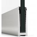 Balustrada w listwie mocowanej do stropu z poręczą nakładaną na szkło 8.8.4 VSG