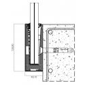 Balustrada w listwie mocowanej do boku z poręczą nakładaną na szkło 8.8.4 VSG