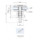 Mocowanie punktowe z dystansem regulowanym MP-R50-ADJ