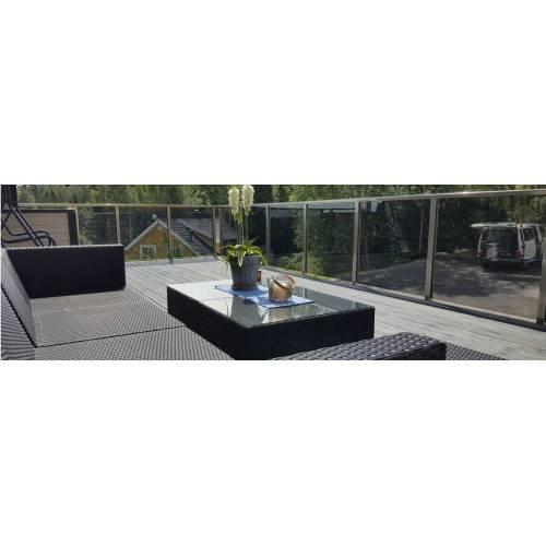 Tani system balustrady szklanej (kompletny zestaw)